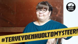 Kuvassa tutkija Hannele Harjunen. Terveydenhuoltomysteeri
