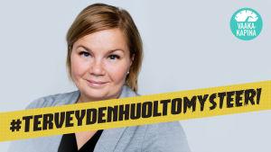 Marja Kinnunen, Suomen tuki- ja liikuntaelinliiton toiminnanjohtaja. #terveydenhuoltomysteeri - Vaakakapina