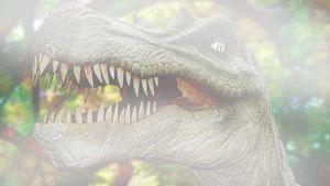 Dinosaurus historian hämärässä.
