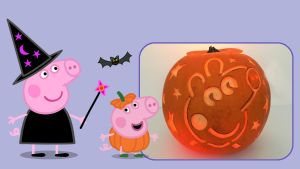 Pipsa Possu Halloween puuha, Pipsa ja Jyri.