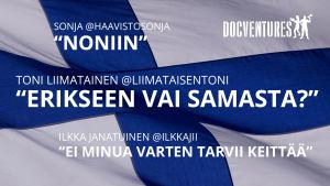 Kolme suomalaista twitter-tekstiä