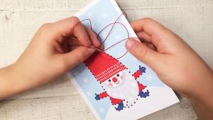 Pikku Kakkosen joulun tulostettava ompelukortti