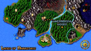 Kartan från spelet Thy Sword