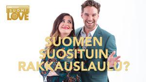 SuomiLOVEn juontajat Jenni Pääskysaari ja Mikko Leppilampi