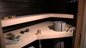 Lähes valmis sauna