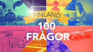 Startbild för frågesport med 100 frågor om Finland.