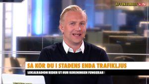 En redaktör vid Aftonbladets TV. Han heter Janne Grönroos.