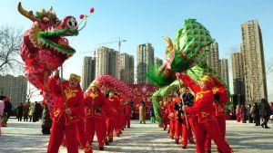 Kiinassa juhlittiin lohikäärmeen vuotta 6.2.2012