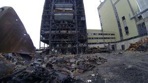 Ett gammalt kolkraftverk.