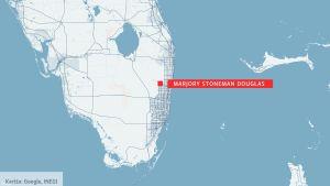 Karta över Florida.