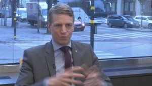 Sveriges finansmarknadsminister Per Bolund
