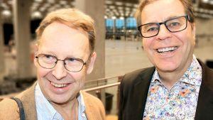 """Kuvassa ovat Tom Pöysti ja Markku """"Mato"""" Valtonen"""