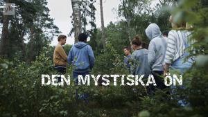 Människor som står i en skog och ser på varnadra