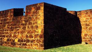En bild på fästningen i Maputo, Moçambique.