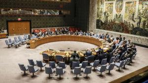 FN:s säkerhetsråd höll krismöte om det nordkoreanska kärnvapentestet den 4 september 2017.
