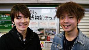 Två japanska ungdomar.