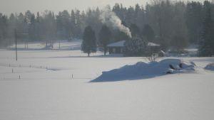 Vinterlandskap i Öja