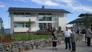 Villa White vid bostadsmässan i Karleby