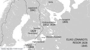 Elias Lönnrots insamlingsresor för Kalevala.