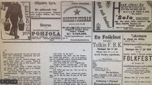 Annons ur Borgåbladet 16.7.1898