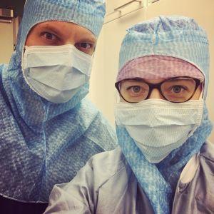 Elossa 24h-sarjan kuvausryhmä Oulaskankaan sairaalassa