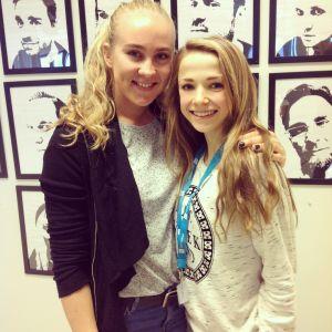 Stefanie Hagelstam och Matilda Panula.