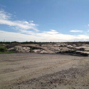 sköldvik avfallscentral byggs