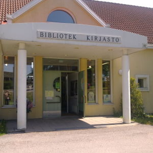 ingång till Liljendal bibliotek