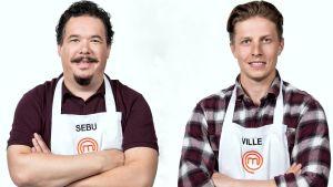 Sebu Björklund och Ville Kärki tävlar i Masterchef Finland.