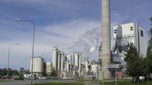 UPM:S pappersfabrik på Alholmen i Jakobstad