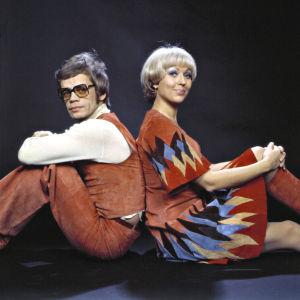 Monica Aspelund ja Aarno Raninen valmistautuvat euroviisukarsintaan 1977