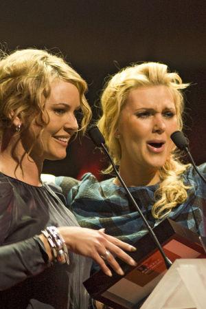 Magdalena och Hanna Graaf på QX-galan 2010.