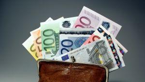 eurosedlar i plånbok