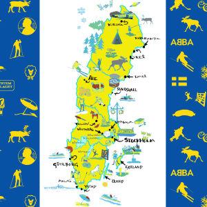 Ruotsin kartta kuvina