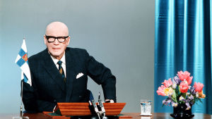 Urho Kekkonen håller Nyårstal 1.1 1972