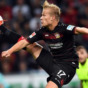 Joel Pohjanpalo i Leverkusen hösten 2016.