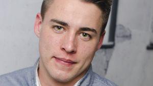Porträtt av Christoffer Ingo, ordförandekandidat för SU i valet 2017.