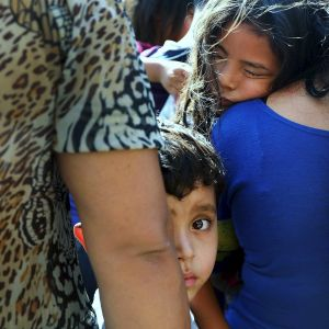Migranter vid gränsen mot USA