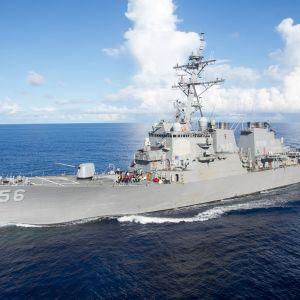 Krigsfartyget USS John McCain den 14 juni 2017 .