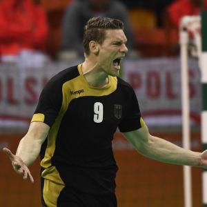 Tysken Tobias Reichmann gjorde sju mål i bronsmatch.