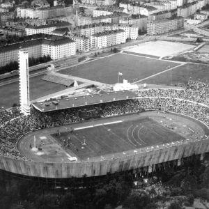 Helsingfors Olympiastadion 1952.