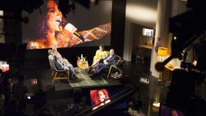 Studion under inspelningen av De Eurovisa.