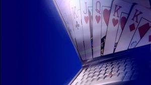 Pokerspel på nätet.