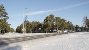 En vägkorsning i Hangö