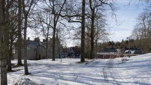 Svidja slott, gården på framsidan.