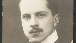 Emil Cedercreutz som ung silhuettkonstnär.