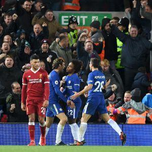 Chelsea firar mål.
