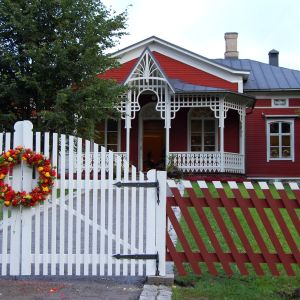 Ny grind och staket vid Strömsö