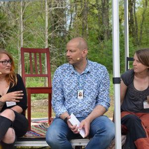 Sandra Konttinen, Matias Jungar och Anna Jungarå.