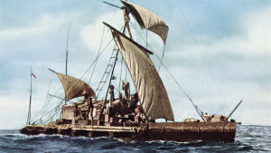 Thor Heyerdahlin Kon-tiki-lautta matkalla Perusta Polynesiaan